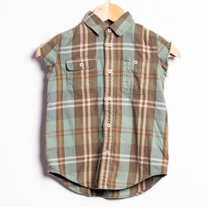 Green Plaid Ralph Lauren Polo Cutoff Kids